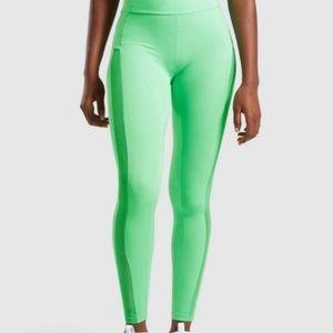 Gymshark Green High-waisted Workout Legging w Mesh